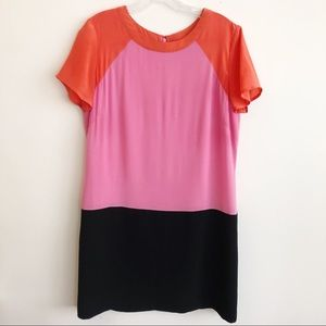 Banana Republic Color Block Silk Shift Dress 12